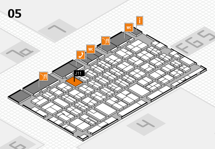 MEDICA 2016 hall map (Hall 5): stand J11