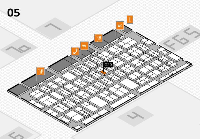 MEDICA 2016 hall map (Hall 5): stand G20