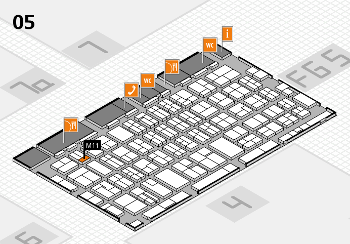MEDICA 2016 hall map (Hall 5): stand M11
