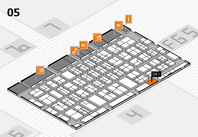 MEDICA 2016 hall map (Hall 5): stand D41