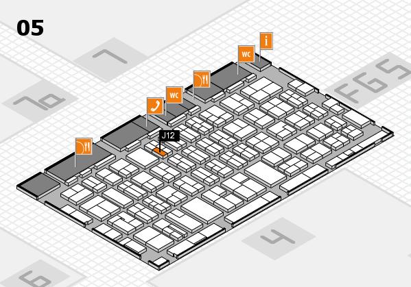 MEDICA 2016 hall map (Hall 5): stand J12