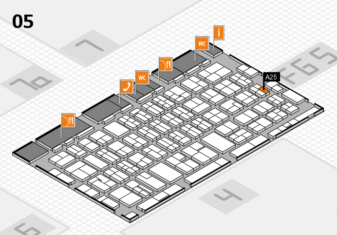 MEDICA 2016 hall map (Hall 5): stand A25