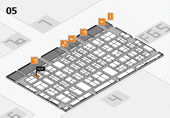 MEDICA 2016 hall map (Hall 5): stand N06