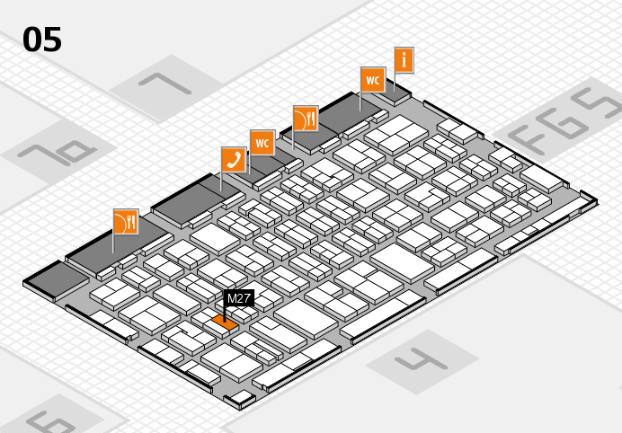 MEDICA 2016 hall map (Hall 5): stand M27