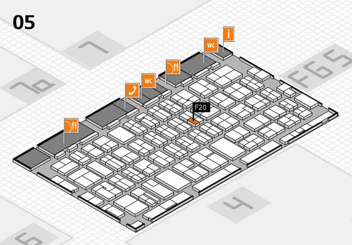 MEDICA 2016 hall map (Hall 5): stand F20