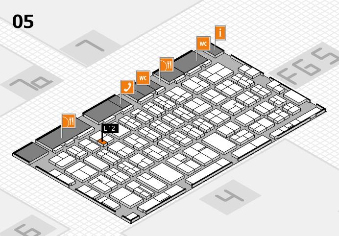 MEDICA 2016 hall map (Hall 5): stand L12