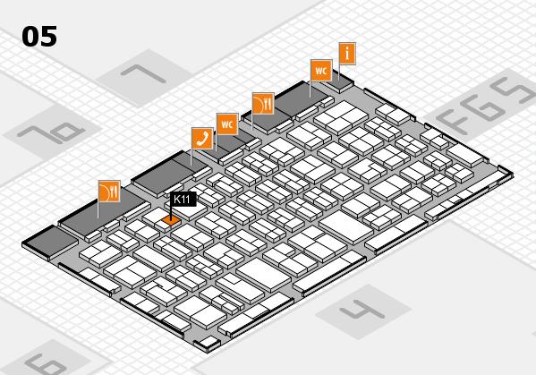 MEDICA 2016 hall map (Hall 5): stand K11