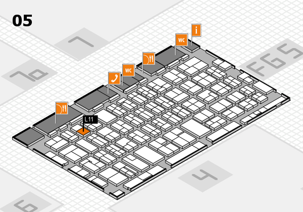 MEDICA 2016 hall map (Hall 5): stand L11