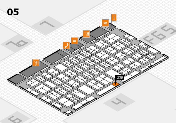MEDICA 2016 hall map (Hall 5): stand G39