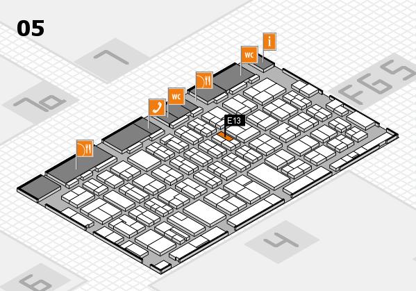 MEDICA 2016 hall map (Hall 5): stand E13