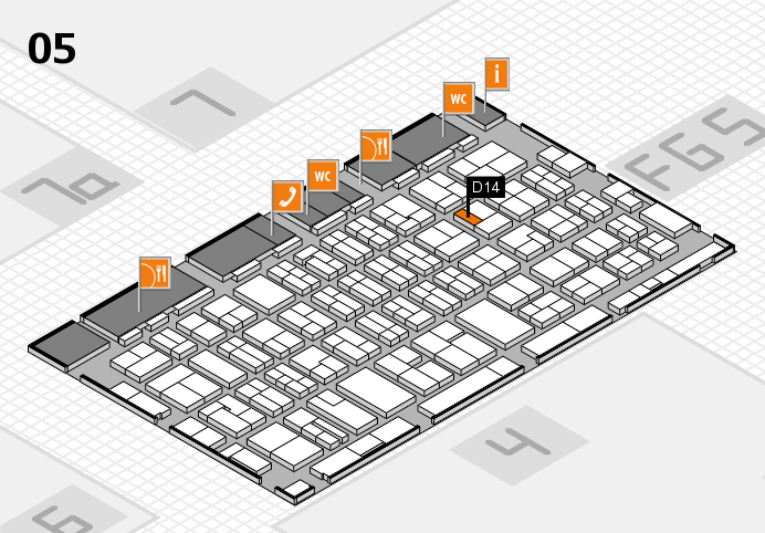 MEDICA 2016 hall map (Hall 5): stand D14