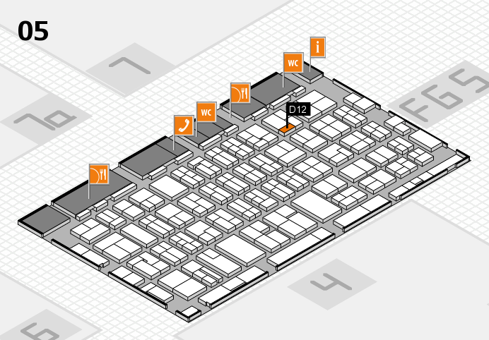 MEDICA 2016 hall map (Hall 5): stand D12