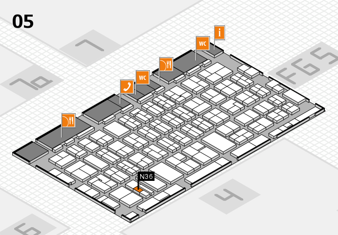 MEDICA 2016 hall map (Hall 5): stand N36