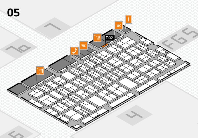 MEDICA 2016 hall map (Hall 5): stand D02