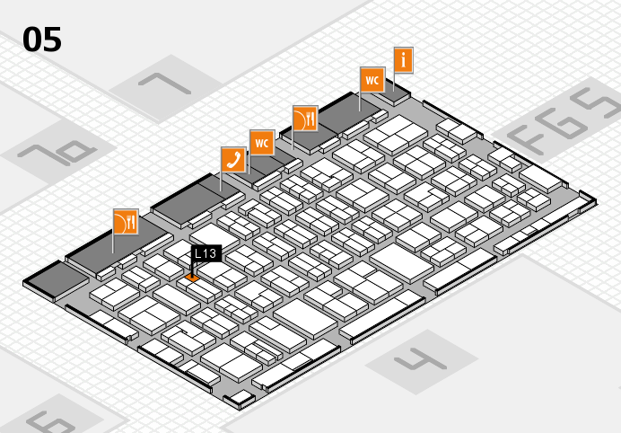 MEDICA 2016 hall map (Hall 5): stand L13