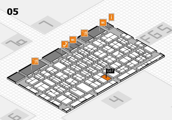 MEDICA 2016 hall map (Hall 5): stand G37