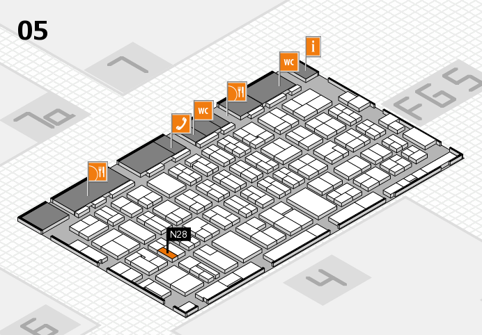 MEDICA 2016 hall map (Hall 5): stand N28