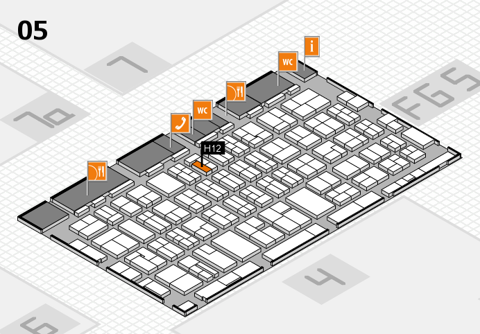 MEDICA 2016 hall map (Hall 5): stand H12