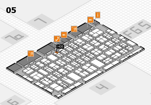 MEDICA 2016 hall map (Hall 5): stand H05