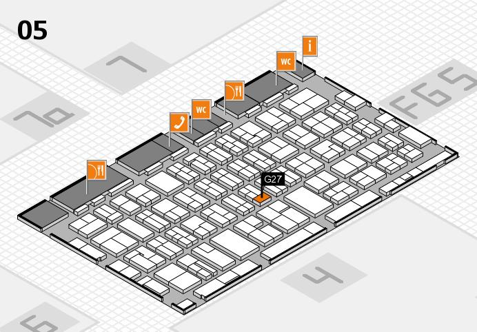 MEDICA 2016 hall map (Hall 5): stand G27