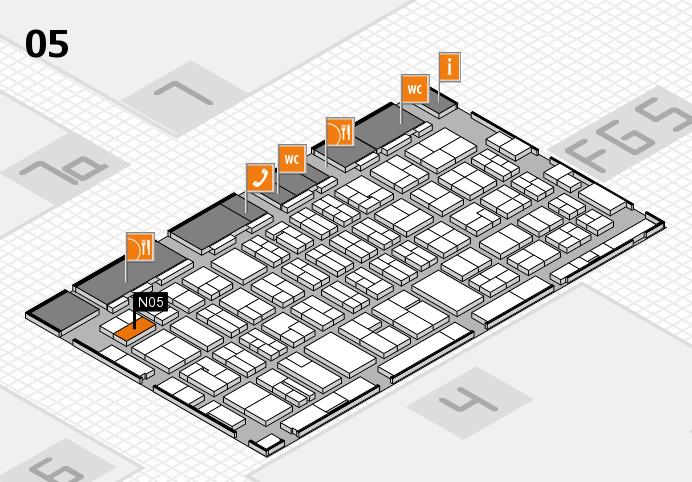 MEDICA 2016 hall map (Hall 5): stand N05