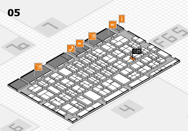 MEDICA 2016 hall map (Hall 5): stand C25