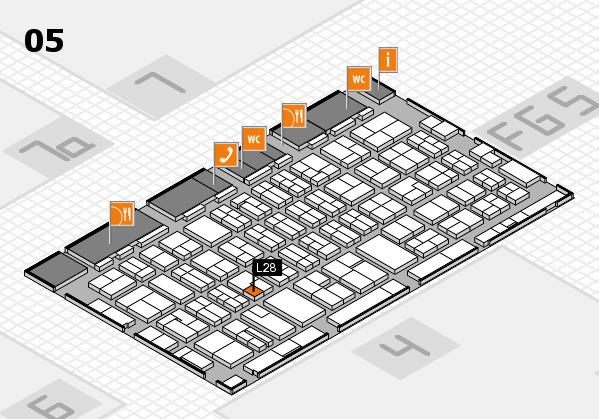 MEDICA 2016 hall map (Hall 5): stand L28