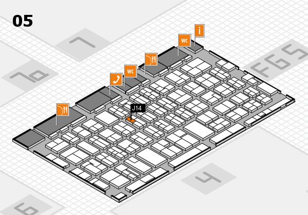 MEDICA 2016 hall map (Hall 5): stand J14