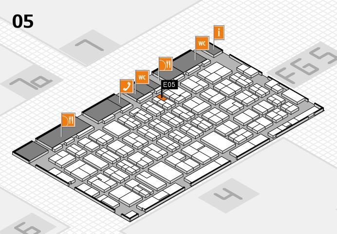 MEDICA 2016 hall map (Hall 5): stand E05