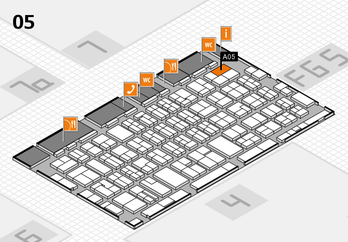 MEDICA 2016 hall map (Hall 5): stand A05
