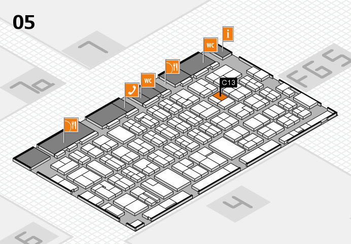 MEDICA 2016 hall map (Hall 5): stand C13