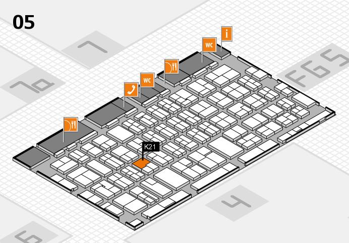 MEDICA 2016 hall map (Hall 5): stand K21