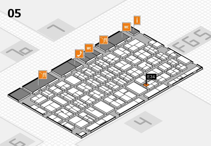 MEDICA 2016 hall map (Hall 5): stand E34