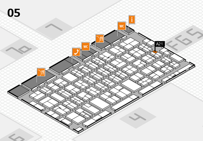 MEDICA 2016 hall map (Hall 5): stand A21