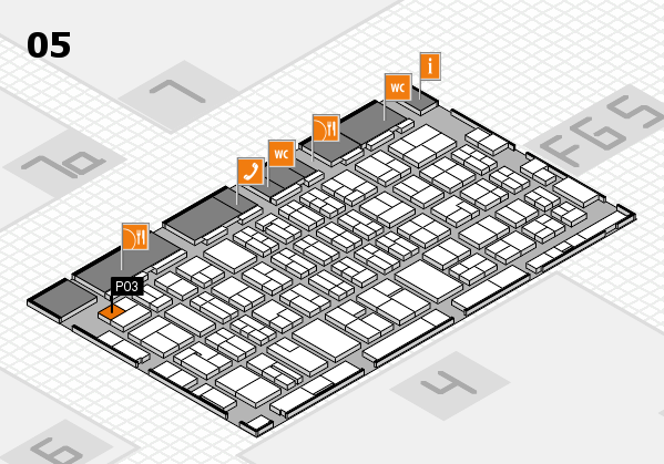 MEDICA 2016 hall map (Hall 5): stand P03