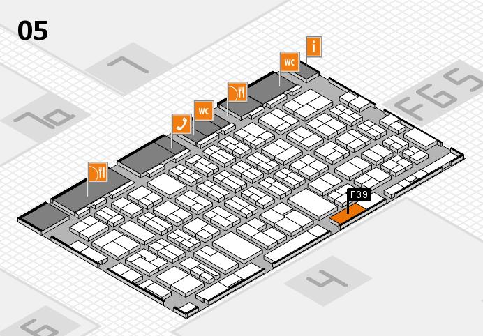 MEDICA 2016 hall map (Hall 5): stand F39