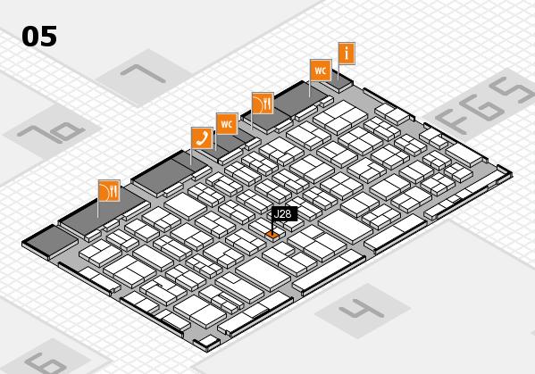 MEDICA 2016 hall map (Hall 5): stand J28