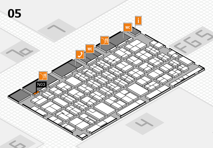 MEDICA 2016 hall map (Hall 5): stand N03
