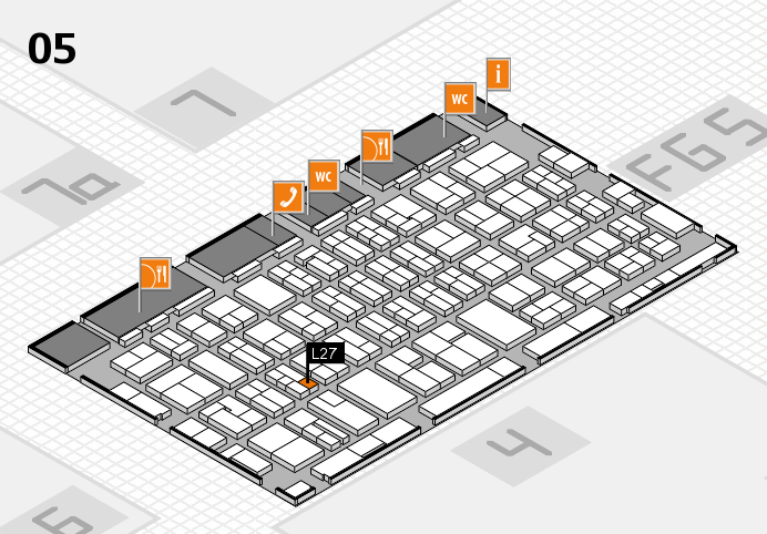 MEDICA 2016 hall map (Hall 5): stand L27