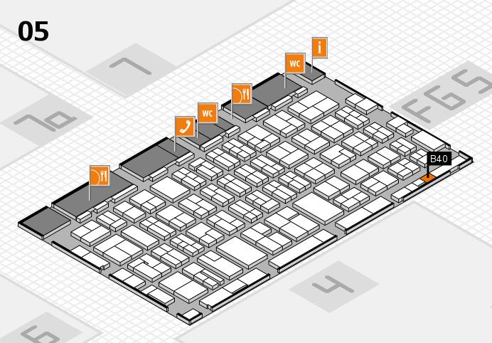 MEDICA 2016 hall map (Hall 5): stand B40