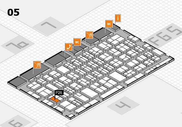 MEDICA 2016 hall map (Hall 5): stand P28