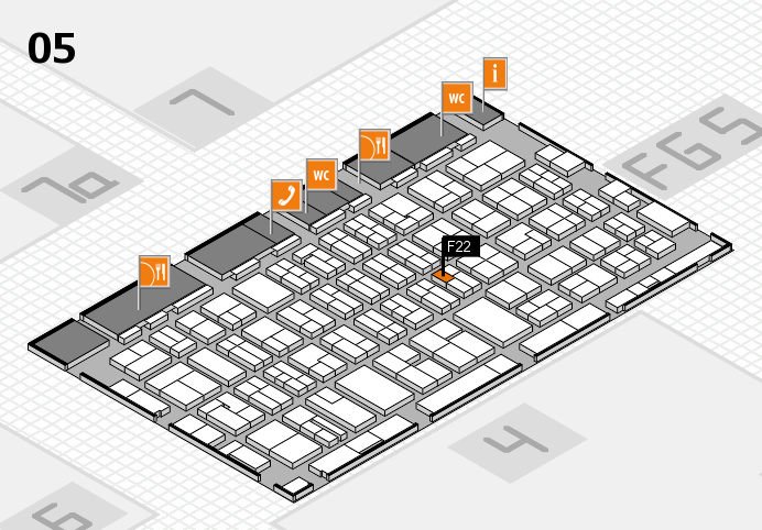 MEDICA 2016 hall map (Hall 5): stand F22