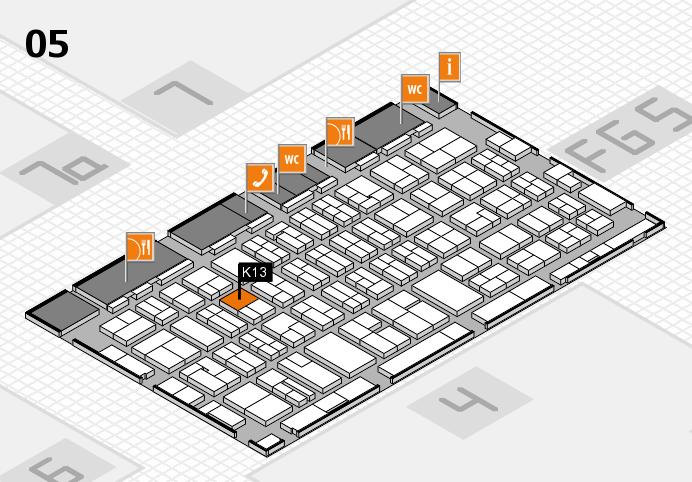 MEDICA 2016 hall map (Hall 5): stand K13