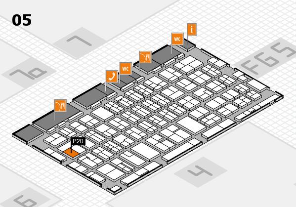 MEDICA 2016 hall map (Hall 5): stand P20