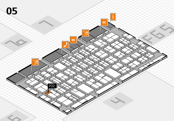 MEDICA 2016 hall map (Hall 5): stand P22