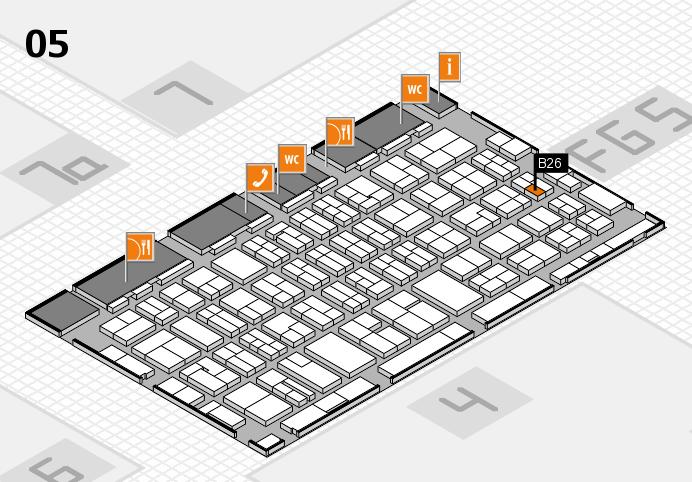MEDICA 2016 hall map (Hall 5): stand B26