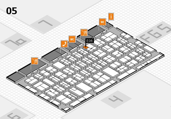 MEDICA 2016 hall map (Hall 5): stand E06