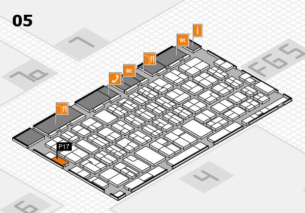MEDICA 2016 hall map (Hall 5): stand P17