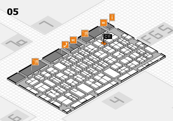 MEDICA 2016 hall map (Hall 5): stand C11