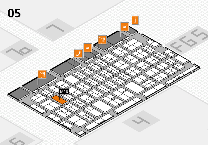 MEDICA 2016 hall map (Hall 5): stand M19